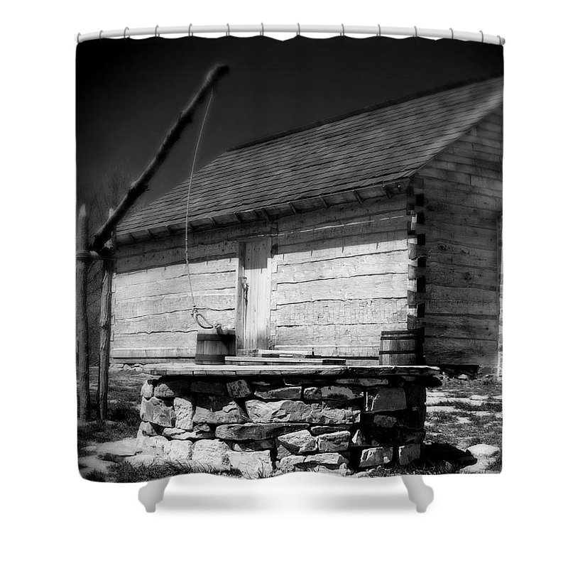 Army Shower Curtain featuring the photograph Way Station French And Indian War by Jean Macaluso