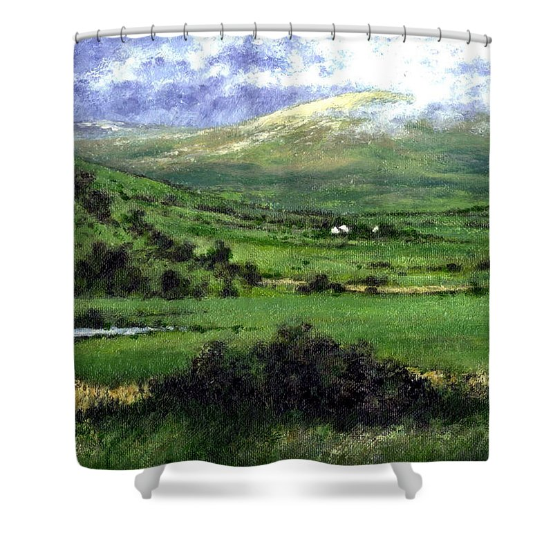 Landcape Shower Curtain featuring the painting Way To Ardara Ireland by Jim Gola