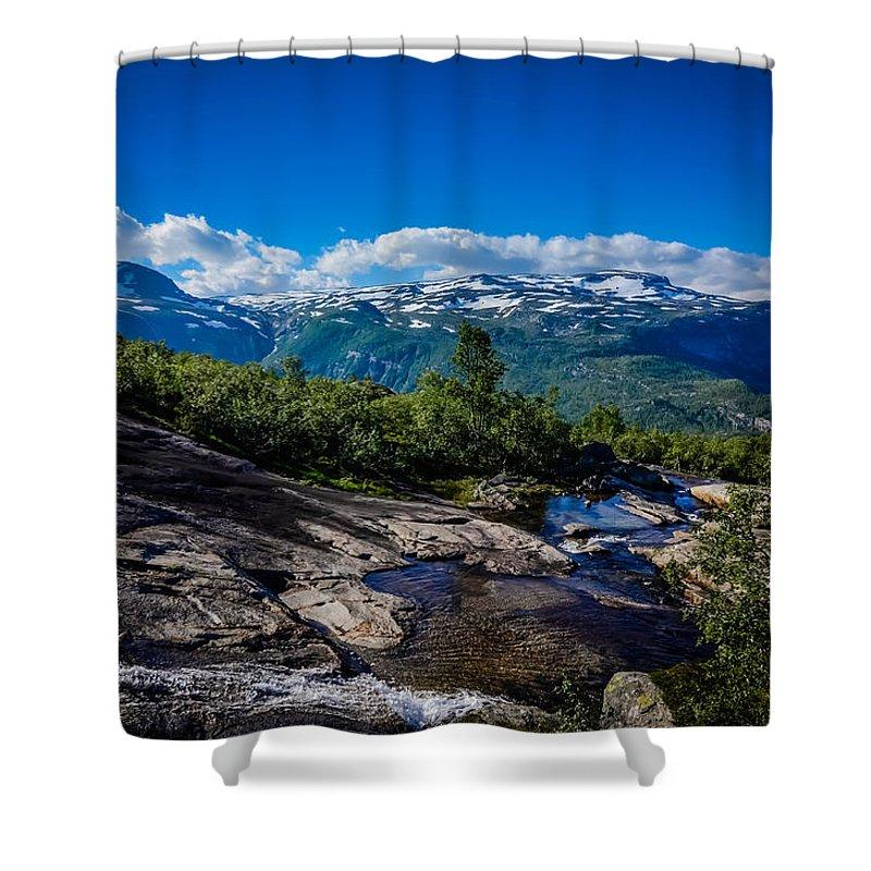 Nature Shower Curtain featuring the photograph Way To Trolltunga by Kristina Jakubikova