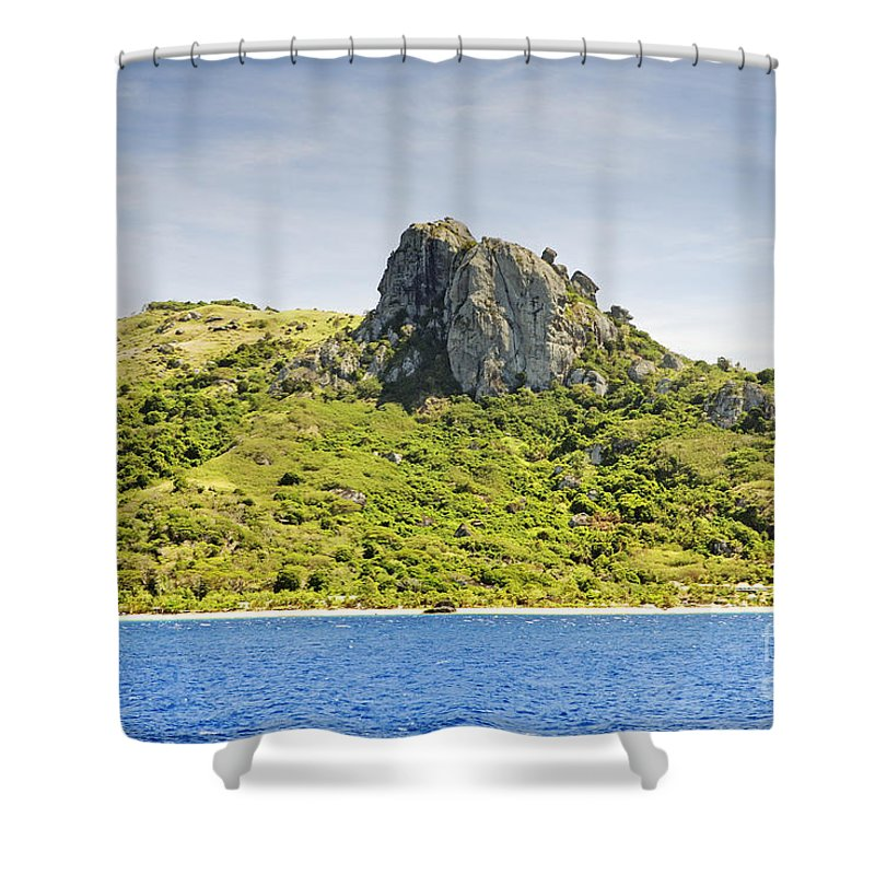 Afternoon Shower Curtain featuring the photograph Waya Lailai Island by Himani - Printscapes