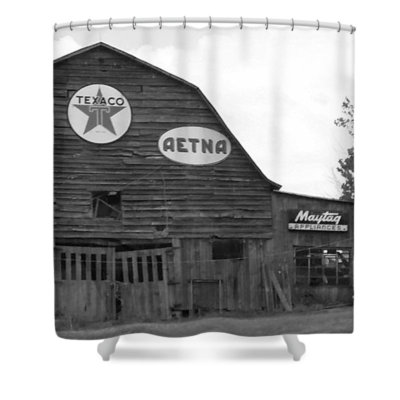 Black And White Shower Curtain featuring the photograph Weathered And Faded by Ali Baucom