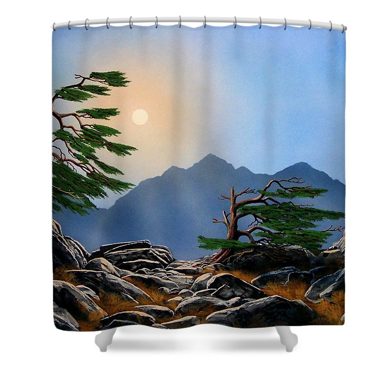 Weathered Warriors Shower Curtain featuring the painting Weathered Warriors by Frank Wilson
