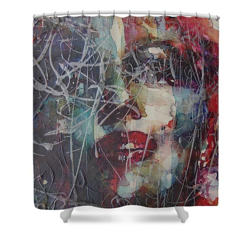 Marilyn Monroe Shower Curtain featuring the painting Web Of Deceit by Paul Lovering