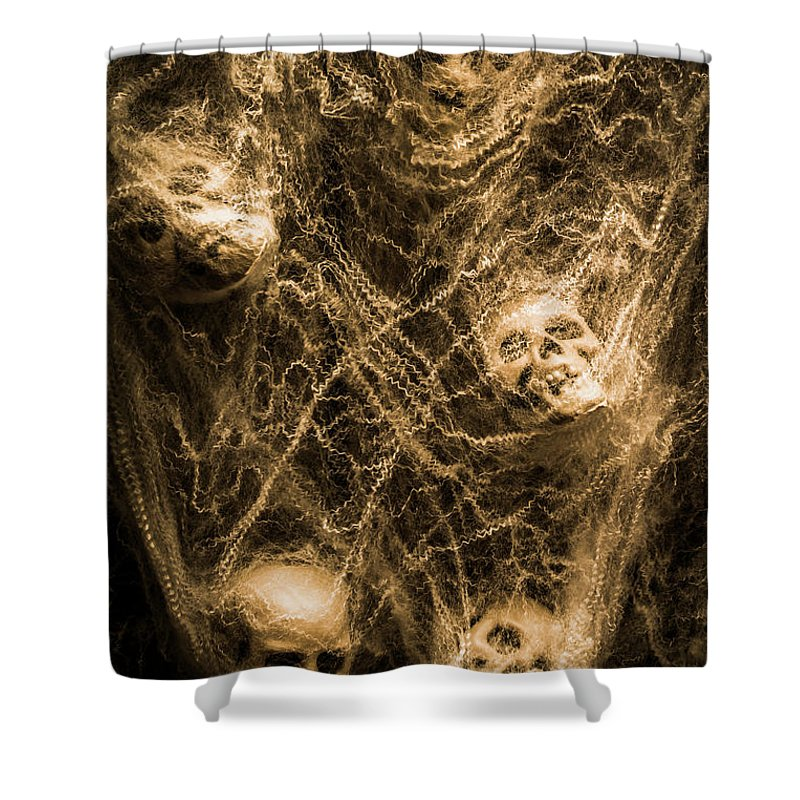 Scary Shower Curtain featuring the photograph Web Of Entrapment by Jorgo Photography - Wall Art Gallery