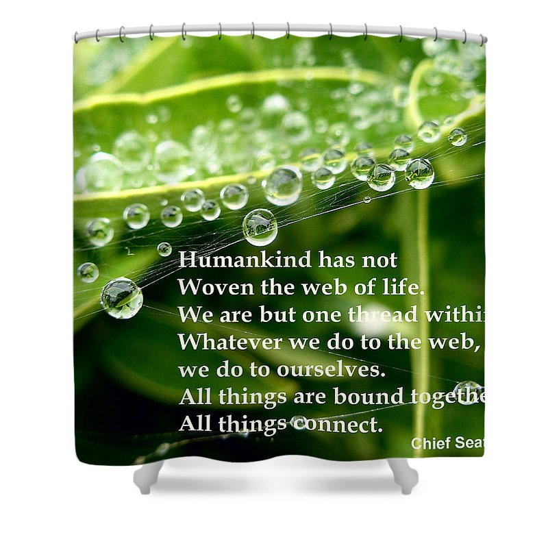 Web Shower Curtain featuring the photograph Web Of Life by Richard Copeland