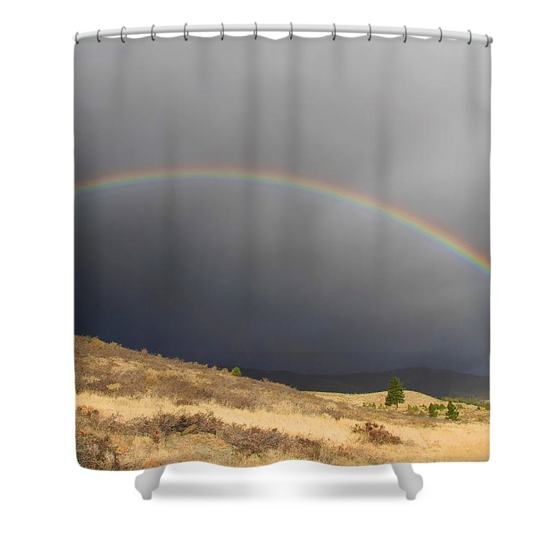 Rainbow Shower Curtain featuring the photograph Wednesday Morning Rainbow by Donna Kennedy
