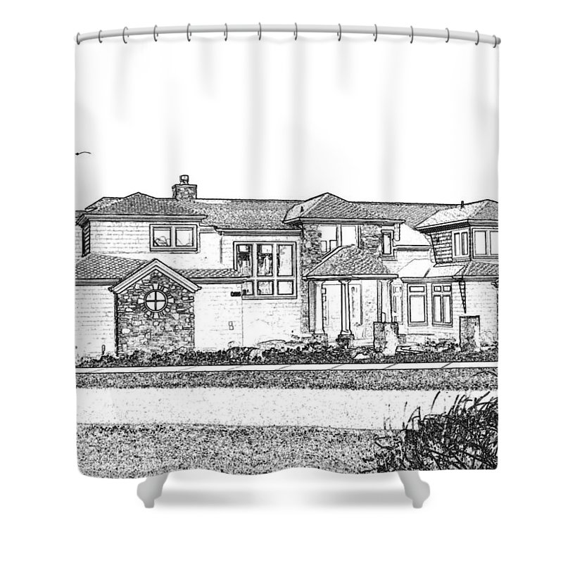 Welcome Home Shower Curtain featuring the digital art Welcome Home 3 by Will Borden