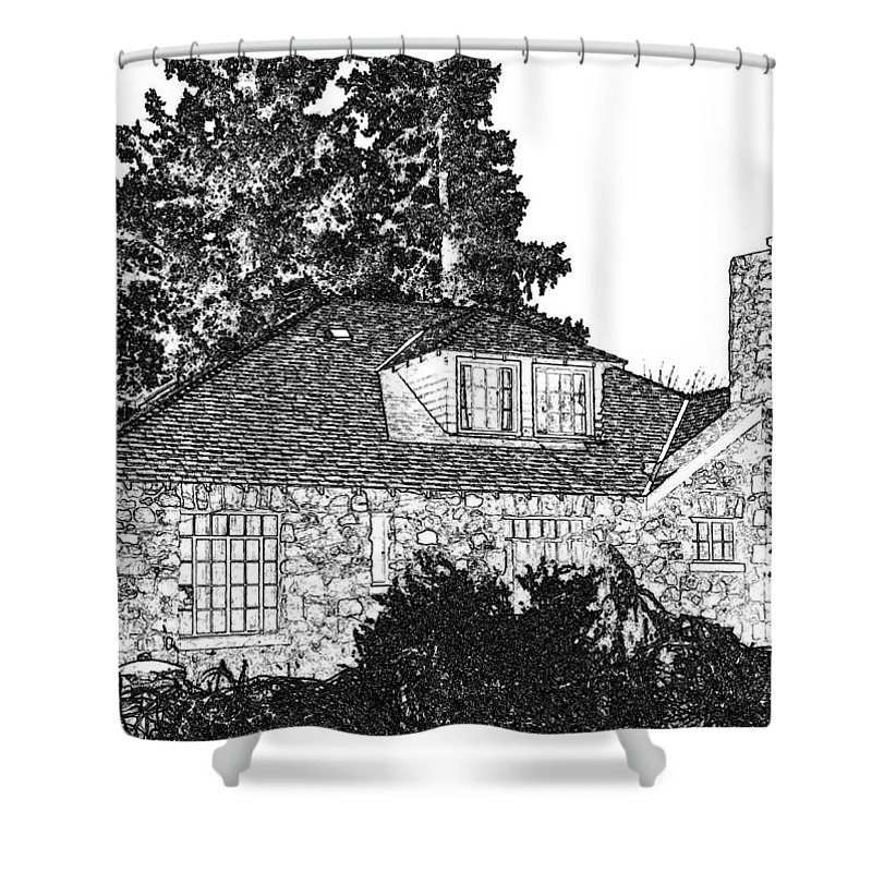 Welcome Home Shower Curtain featuring the digital art Welcome Home 5 by Will Borden