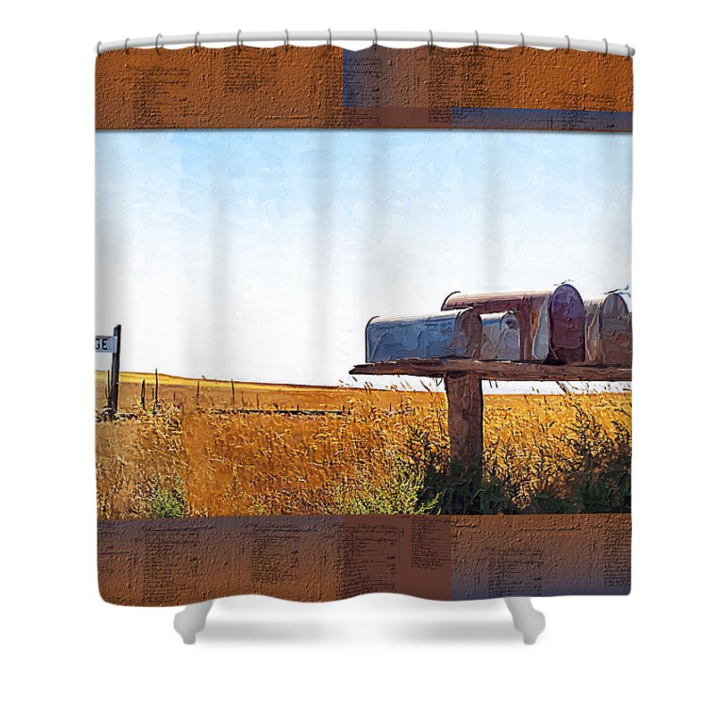 Railroad Shower Curtain featuring the photograph Welcome To Portage Population-6 by Susan Kinney