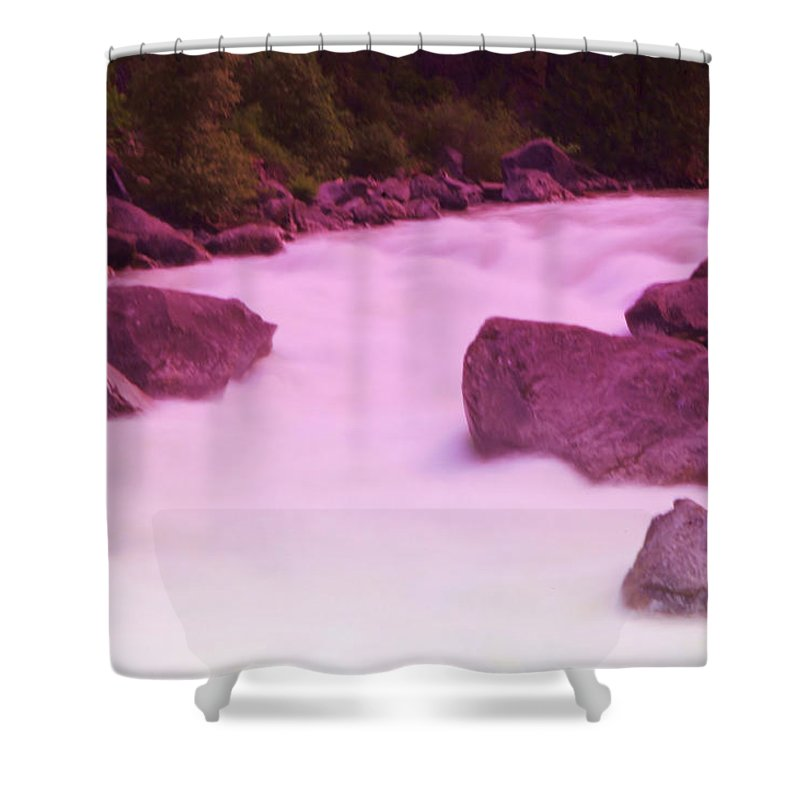 Rivers Shower Curtain featuring the photograph Wenatchee River by Jeff Swan