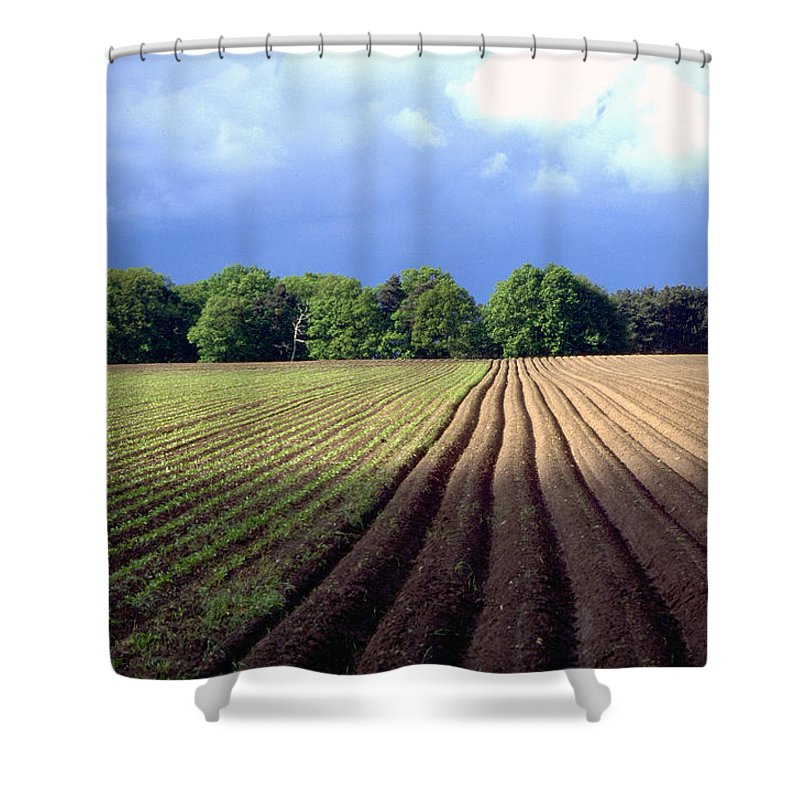 Wendland Shower Curtain featuring the photograph Wendland by Flavia Westerwelle