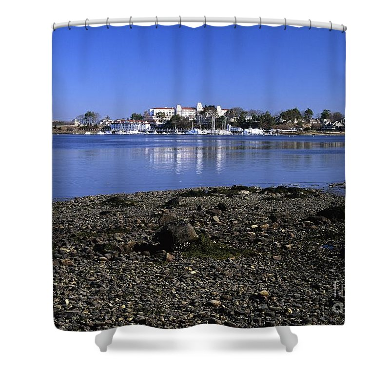 New Castle Shower Curtain featuring the photograph Wentworth By The Sea Hotel - New Castle New Hampshire Usa by Erin Paul Donovan