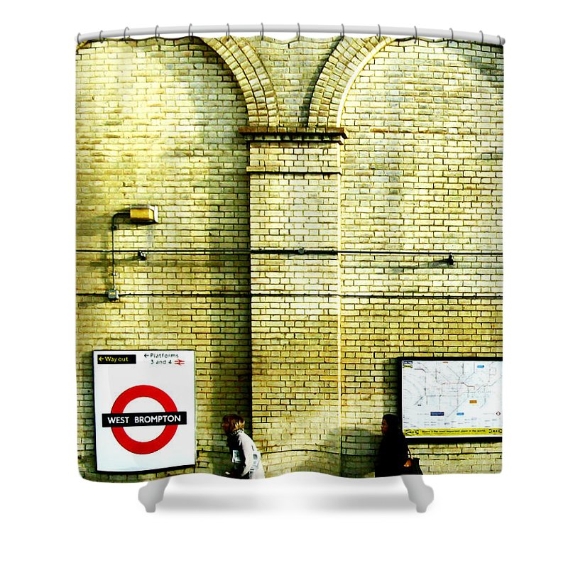 London Shower Curtain featuring the photograph West Brompton by Osvaldo Hamer