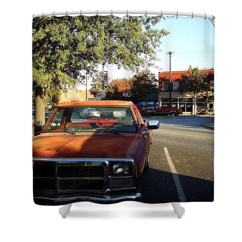 West End Shower Curtain featuring the photograph West End by Flavia Westerwelle