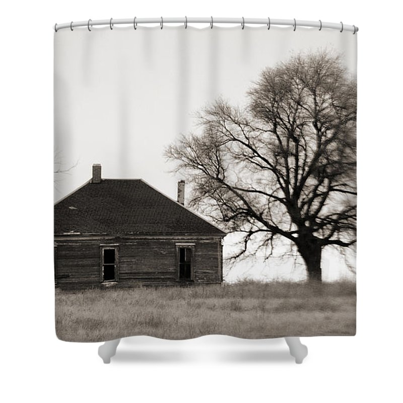Texas Shower Curtain featuring the photograph West Texas Winter by Marilyn Hunt