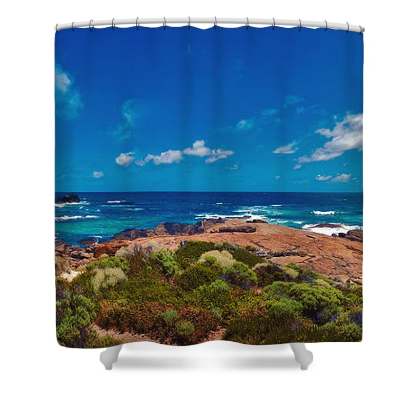 Boodjidup Beach Shower Curtain featuring the photograph Western Australia Beach Panorama by David Zanzinger