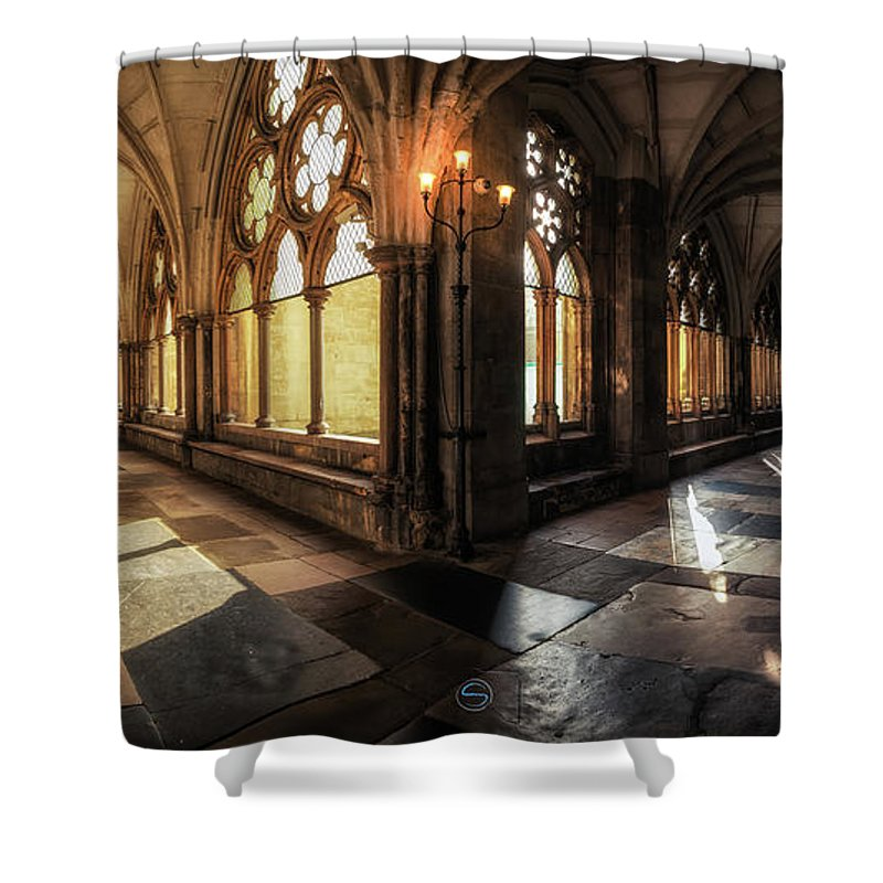 Westminster Shower Curtain featuring the photograph Westminster Abbey by Sergio Nevado
