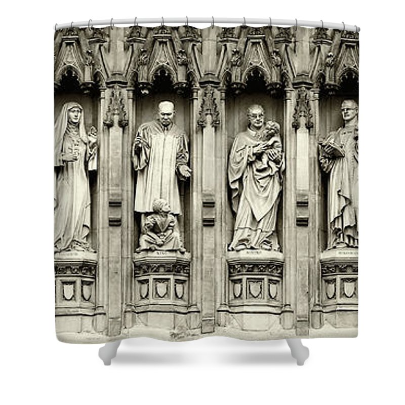 Westminster Abbey Shower Curtain featuring the photograph Westminster Martyrs Memorial - 1 by Stephen Stookey