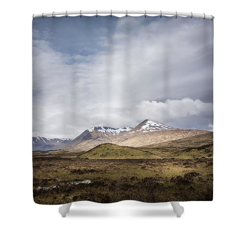Clouds Shower Curtain featuring the photograph Wet Scotland by Ineke Mighorst