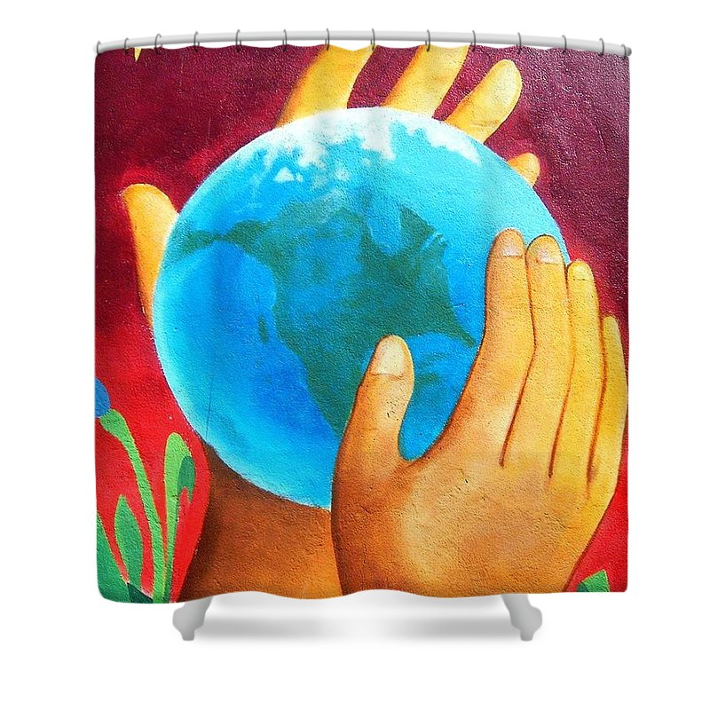 Wonderful Shower Curtain featuring the photograph What a Wonderful World ... by Juergen Weiss