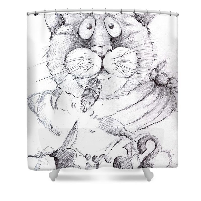 Charity Shower Curtain featuring the drawing What Bird by Mary-Lee Sanders