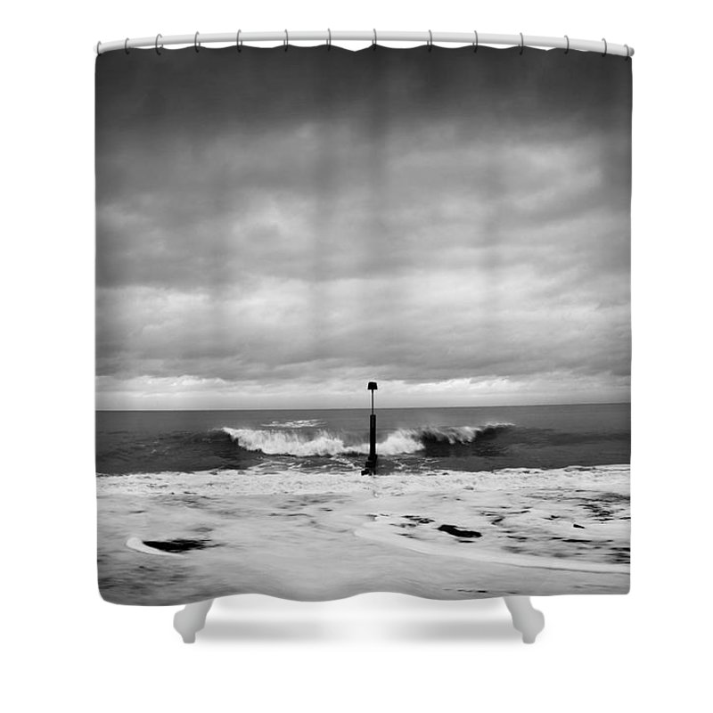 Beach Shower Curtain featuring the photograph What If... by Dorit Fuhg