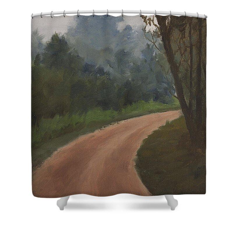 What Lies Ahead Shower Curtain featuring the painting What Lies Ahead by Mandar Marathe