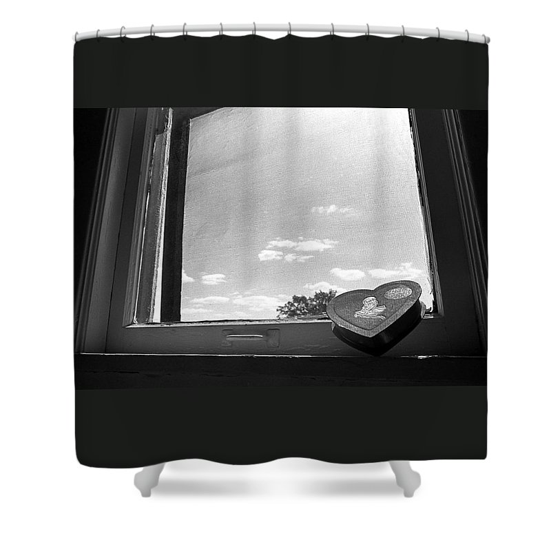 Window Shower Curtain featuring the photograph What Remains by Ted M Tubbs