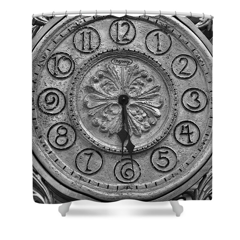 Still Life Shower Curtain featuring the photograph What's The Time by Jan Amiss Photography