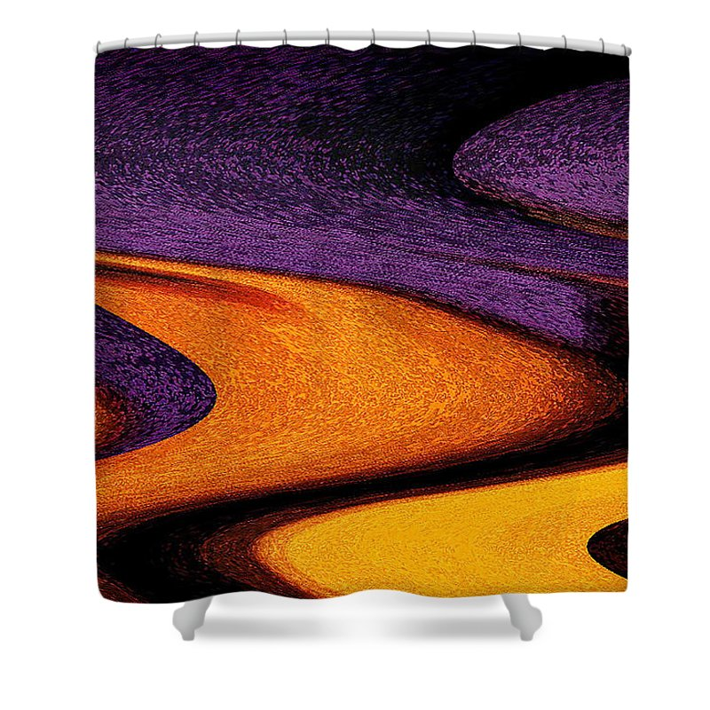 Abstract Shower Curtain featuring the photograph Wheat Field, Palouse by Michael Ziegler