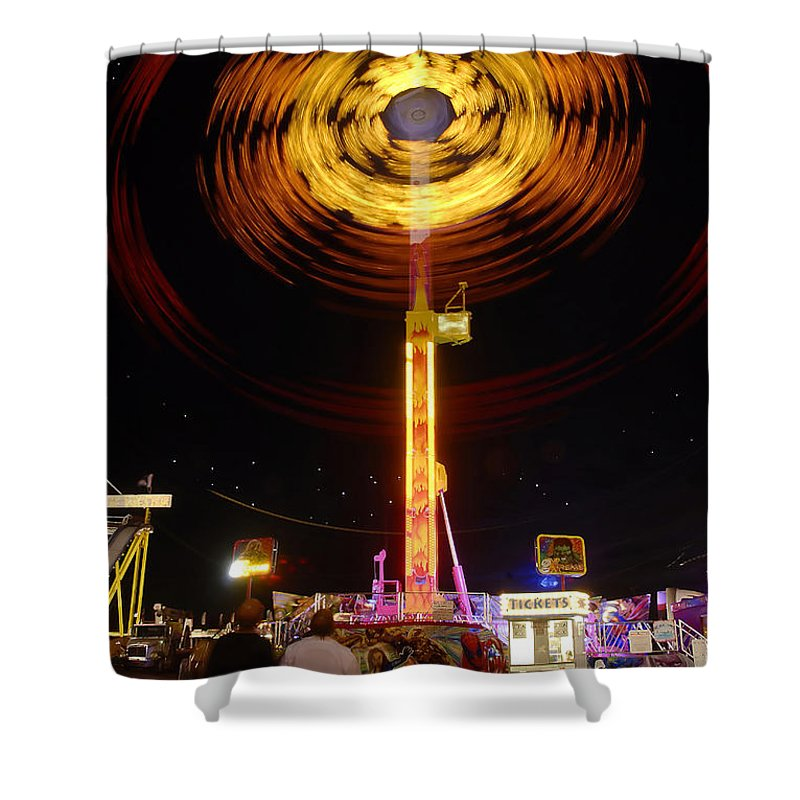 Fair Shower Curtain featuring the photograph Wheels Of Wonder by David Lee Thompson