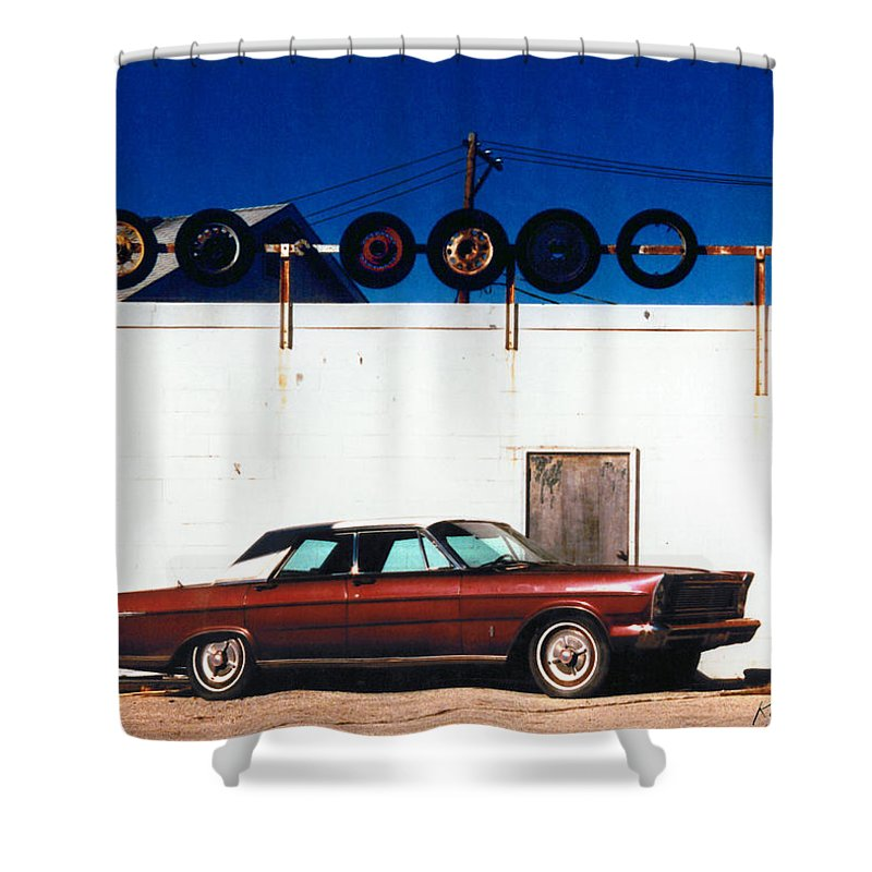 Cars Shower Curtain featuring the photograph Wheels by Steve Karol