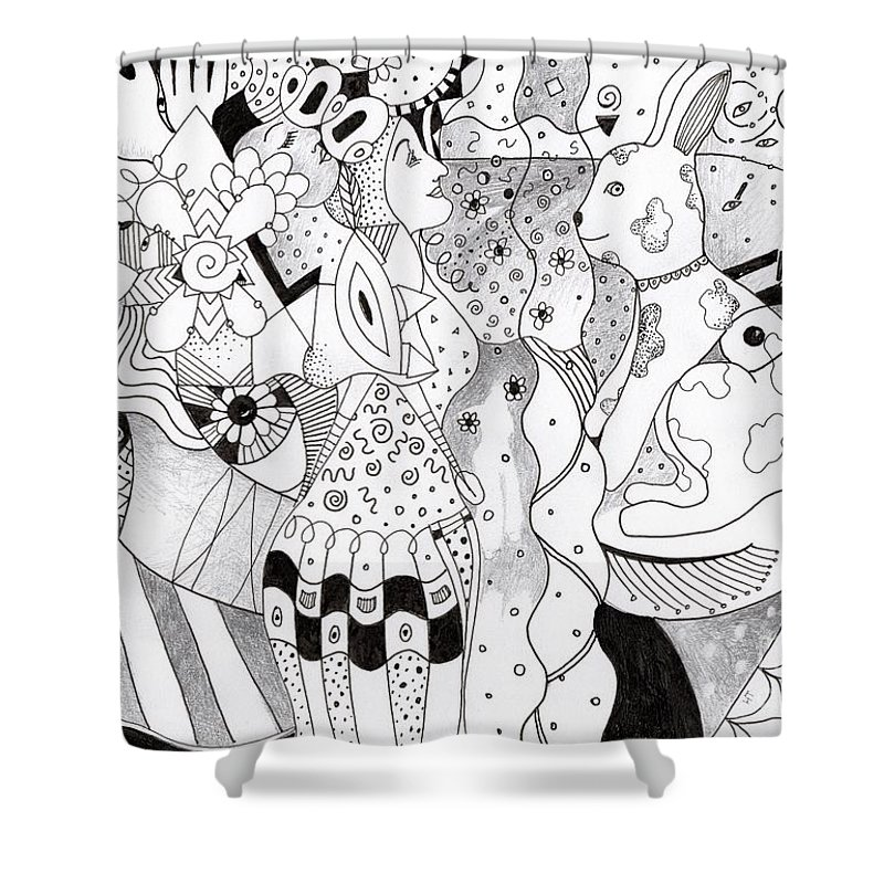 Organic Abstraction Shower Curtains