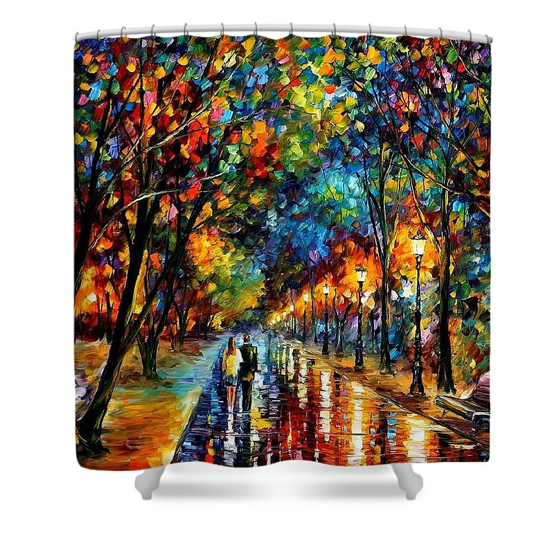 Landscape Shower Curtain featuring the painting When Dreams Come True by Leonid Afremov