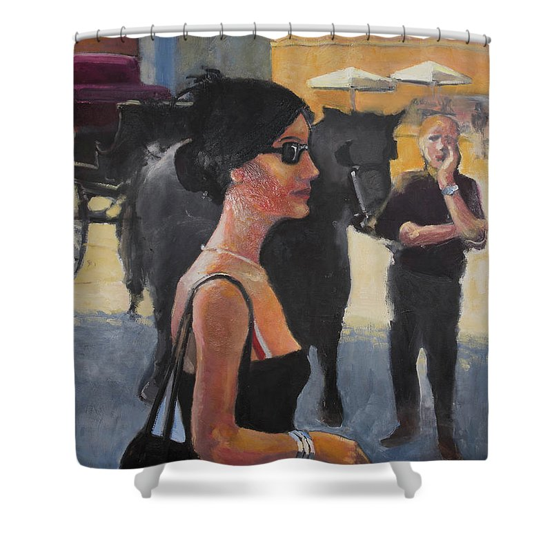Italy Shower Curtain featuring the painting When In Rome by Craig Newland