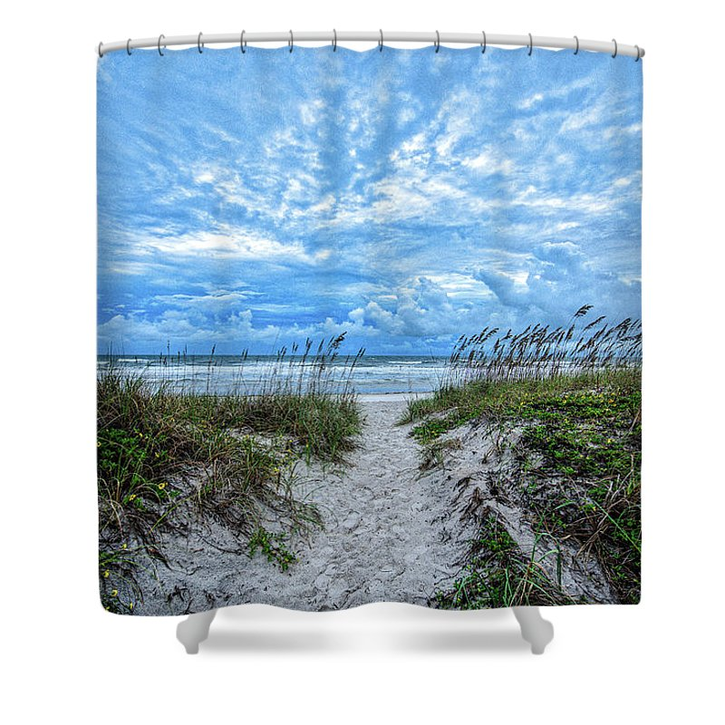Ocean Shower Curtain featuring the photograph When We Had Dunes by Cornelius Powell