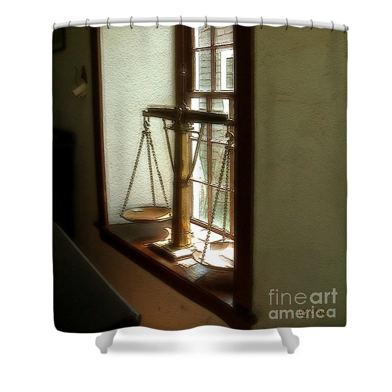 Window Shower Curtain featuring the painting Where Be His Quiddits Now? by RC DeWinter