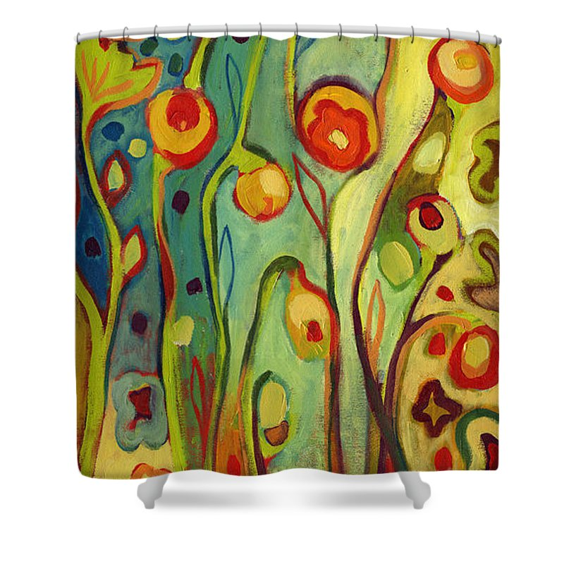 Floral Shower Curtain featuring the painting Where Does Your Garden Grow by Jennifer Lommers