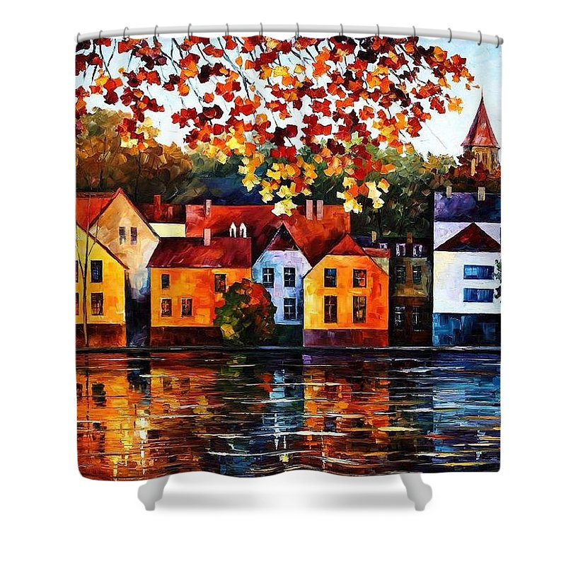Afremov Shower Curtain featuring the painting Where I Grew Up by Leonid Afremov