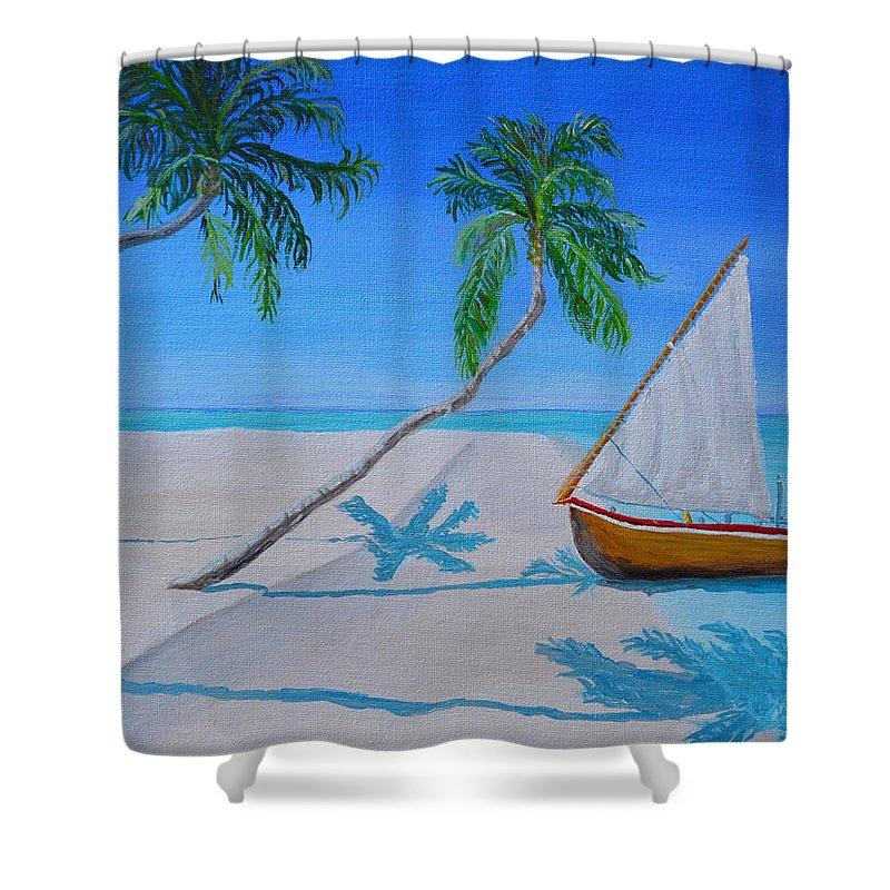 Where I Would Like To Be Shower Curtain featuring the painting Where I Would Like To Be by Christine Dekkers