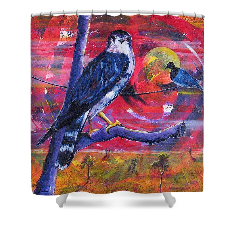War Shower Curtain featuring the painting Where Is Love by Rollin Kocsis