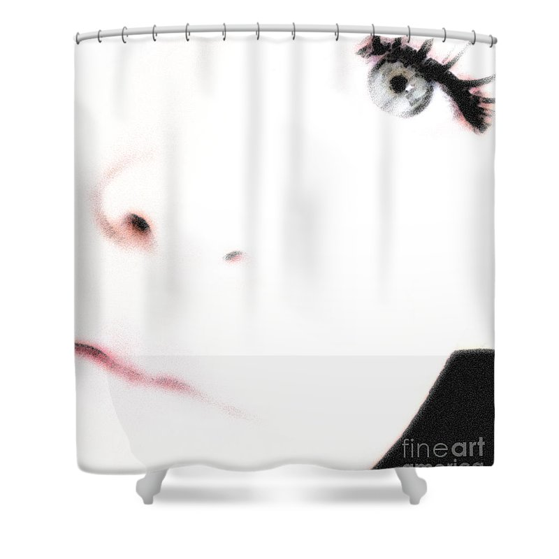 Face Shower Curtain featuring the photograph Where Is The Soul by Amanda Barcon