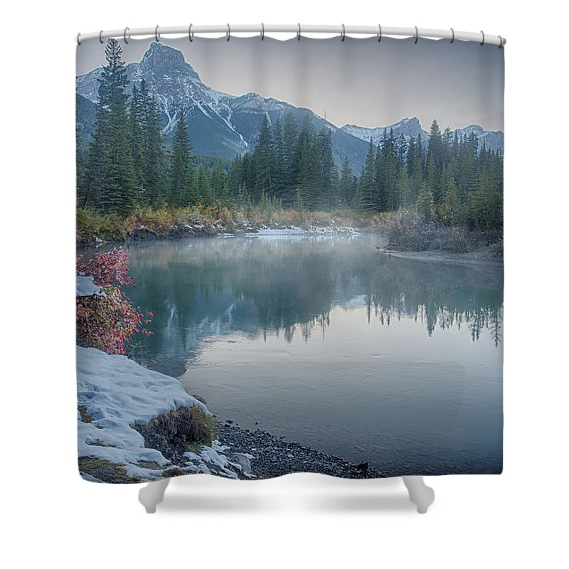 River Shower Curtain featuring the photograph Where The River Bends by April Copeland