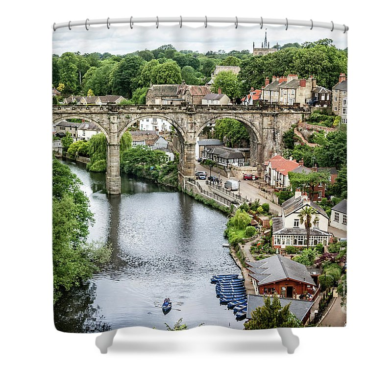English Village Photographs Shower Curtains