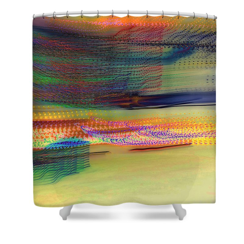 Abstract Shower Curtain featuring the photograph Whirlwind by Don Zawadiwsky