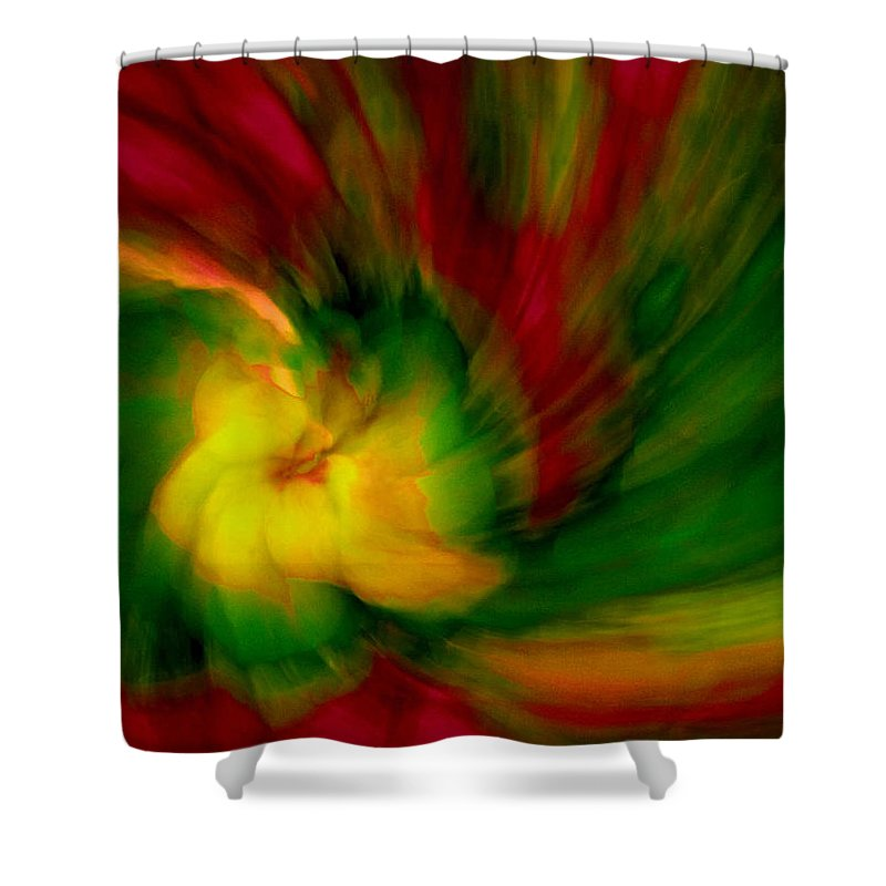 Abstract Shower Curtain featuring the photograph Whirlwind Passion by Neil Shapiro
