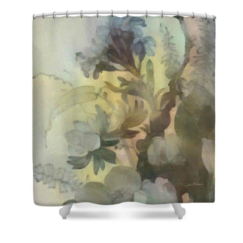 Flowers Shower Curtain featuring the digital art Whispering Flowers 2 by Don Berg