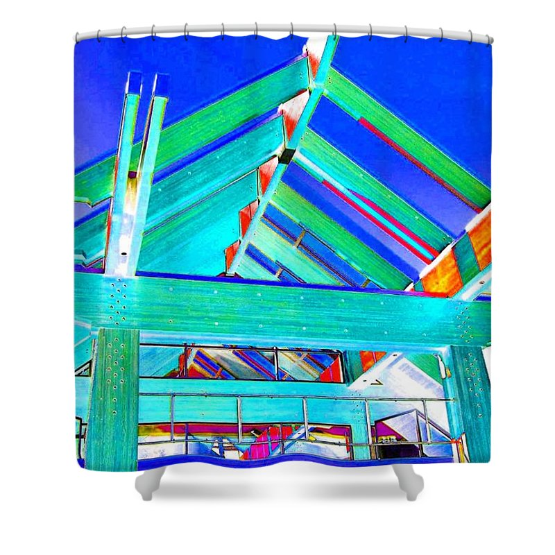 Whistler Conference Centre Shower Curtain featuring the digital art Whistler Conference Centre by Will Borden