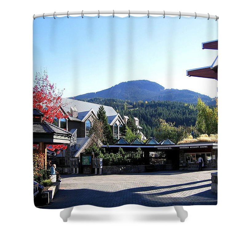 2010 Olympics Shower Curtain featuring the photograph Whistler Mountain by Will Borden