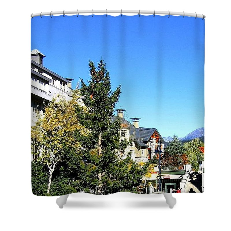 2010 Olympics Shower Curtain featuring the photograph Whistler Village by Will Borden